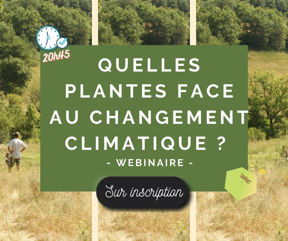 Conférence interactive – Quelles plantes face aux changements climatiques ?