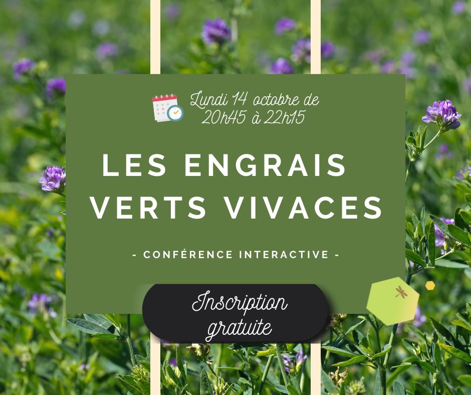 Conférence interactive – Thème : les engrais verts vivaces