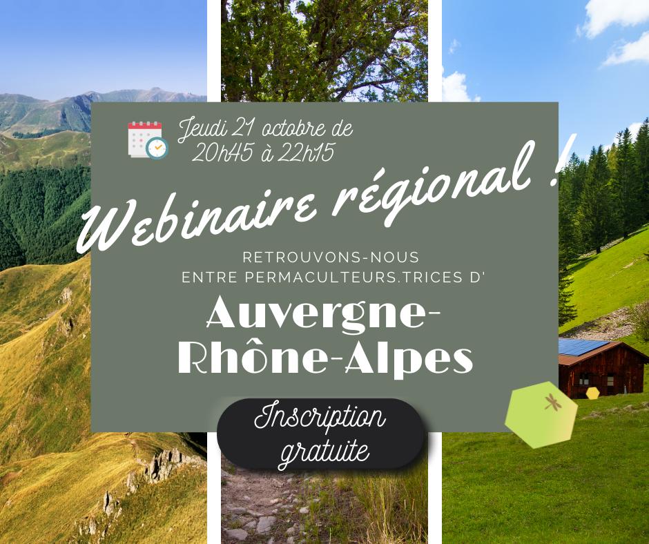 Webinaire régional Auvergne-Rhône-Alpes